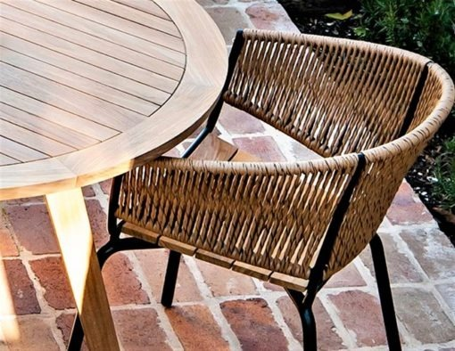 Ake rope weave banana leaf wicker dining chair contract hotel hospitality luxury design custom