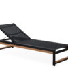 Alar Chaise Lounger Luxury Pool Furniture Contract Teak Batyline All Weather