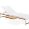 Alar Chaise Lounger Luxury Pool Furniture Contract Teak Batyline All Weather 2