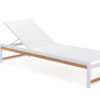 Alar Chaise Lounger Luxury Pool Furniture Contract Teak Batyline All Weather 3