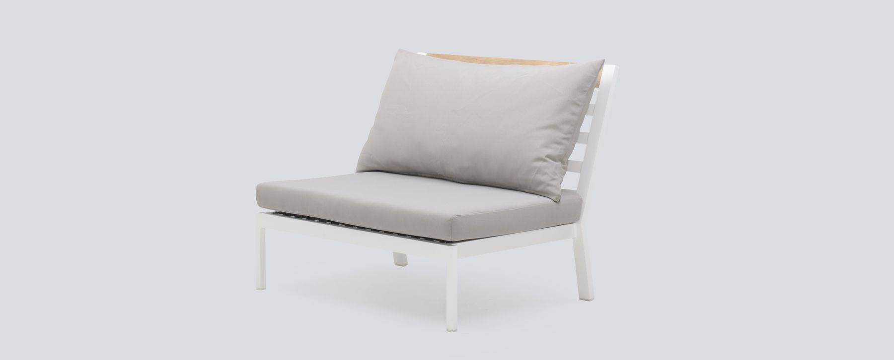 outdoor luxury furniture designer alar middle piece modern outdoor luxury teak aluminum white black commercial hospitality furniture club chair stellar couture