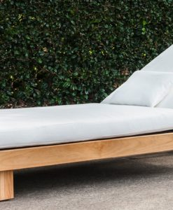 Alura Chaise Lounger Modern Teak Pool Furniture Contract