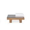 Alura Coffee Table Stone Top Modern Teak Pool Furniture Contract