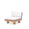 Alura Middle Seat Modern Teak Pool Furniture Contract