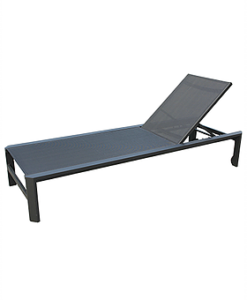 Angela Black Chaise Lounger Hospitality Contract Furniture