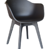 Modern Black White Polypropyleen Dining Chair