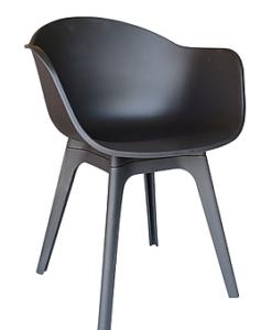 Modern Black White Polypropyleen Dining Chair