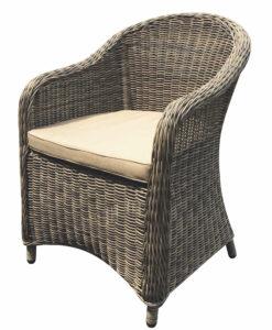 Modern Aluminum Wicker Dining Chair