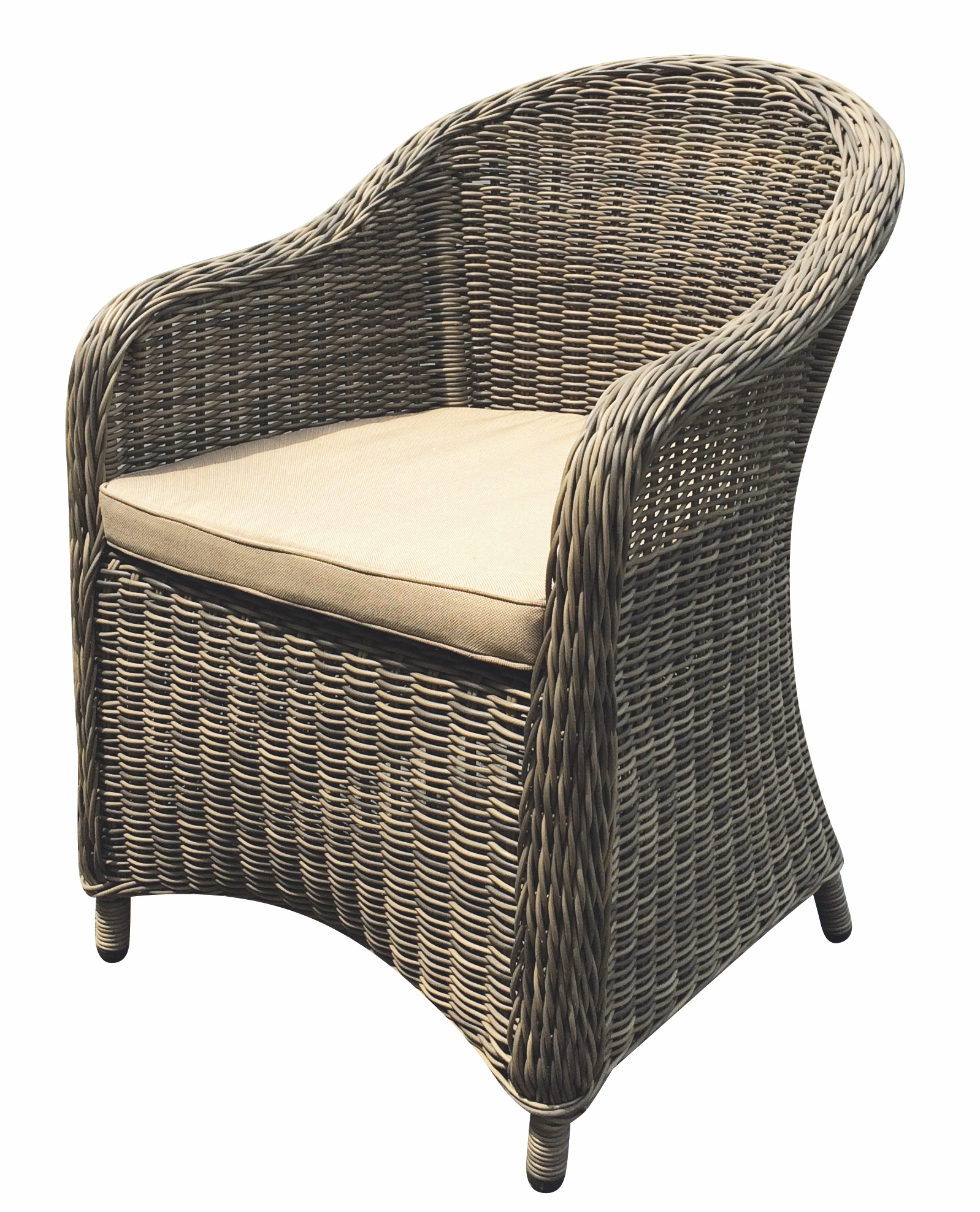 Modern Aluminum Wicker Dining Chair Contract Furniture