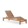 Asure Teak Chaise Lounger Details Traditional Terrace Pool Furniture Outdoor 4