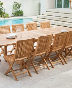Becker Dining Table Traditional Teak Outdoor Patio Furniture Restaurants