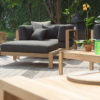 Belize Club Chair and Ottoman Modern Patio Furniture Contract