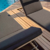 Modern Teak Quick Dry Cushion Chaise Lounger