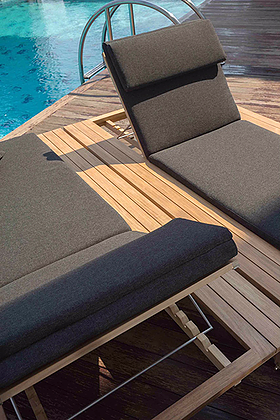 Belize Luxury Chaise Lounger Single Teak Hospitality Furniture