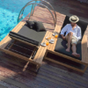 Belize Single Chaise Lounger Teak Hospitality