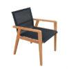 Modern Teak Batyline Textile Dining Chair