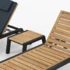 Modern Teak Aluminum Chaise Lounger