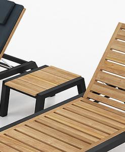 Teak chaise lounger, modern chaise lounge, outdoor teak chaise lounge, Commercial lounge furniture, Commercial home furnishings, Commercial hospitality furniture