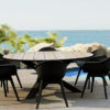 Bermuda Dining Table Arliene Dining Chairs Restaurants Hospitality Outdoor Furniture