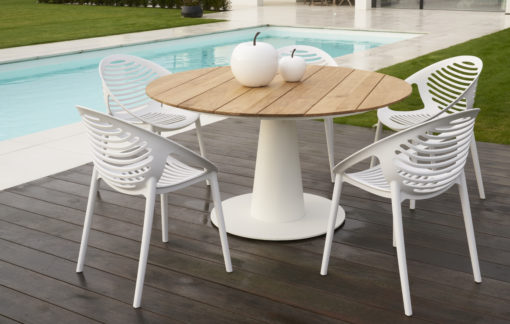 Bermuda Dining Table and Lili Dining Chair Hospitality Contract Furniture