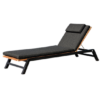 Bermuda Luxury Chaise Lounger Modern Teak