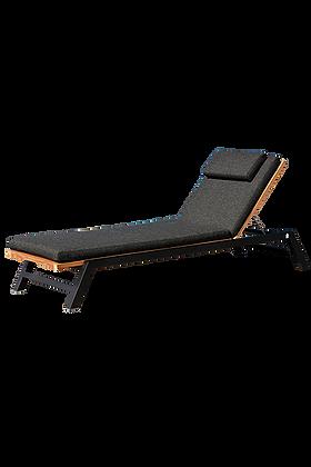 Bermuda Luxury Chaise Lounger Modern Teak