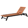 Bermuda Teak Chaise Lounger Modern Pool Furniture