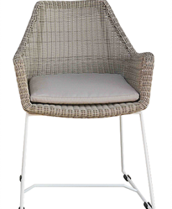 Modern Wicker Polyrod Stainless Steel Dining Chair