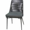 Modern Aluminum Rope Dining Chair W Cushion