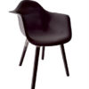 Contemporary Polyethylene Black White Grey Dining Chair