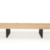 Edge bench luxury full teak pca frame modern outdoor furniture indoor outdoor contract residential