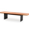Edge dining table luxury full teak pca frame modern outdoor furniture indoor outdoor contract residential