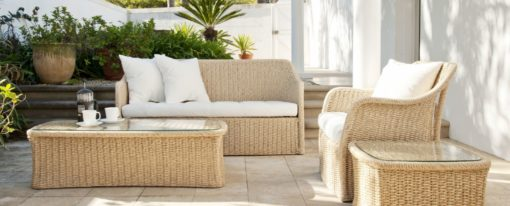 Elana Wicker 2 Seater Sofa Caribbean Traditional Design Hotels Contract Outdoor Furniture All Weather