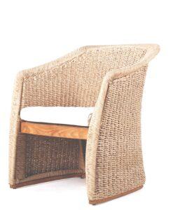 Modern Teak Hand Woven Armchair