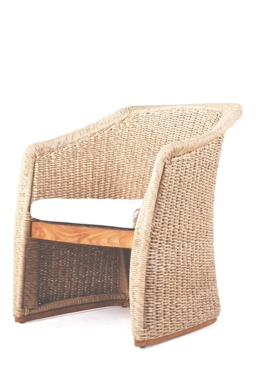 Elana Armchair Teak Wicker Luxury Contract Outdoor Furniture 1