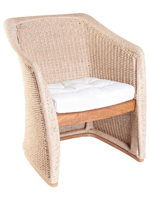 Elana Armchair Teak Wicker Luxury Contract Outdoor Furniture
