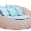 Elana Wicker Daybed Love Seat Hospitality Hotels Spas Luxury Contract Pool Patio Furniture