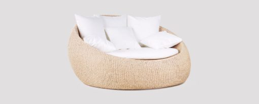 Elana Wicker Loveseat Daybed Pool Terrace Outdoor Furniture