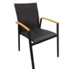 Contemporary Teak Aluminum Textile Dining Chair