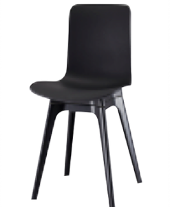 Modern Polyethylene Black White Grey Dining Chair