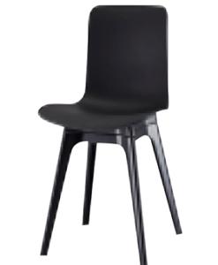 Modern Polyethylene Black White Grey Dining Chair