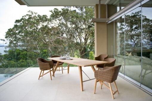 Eliss Wicker weave Dining Chair Kaylin Table Restaurants Hospitality Wicker Teak Outdoor Furniture