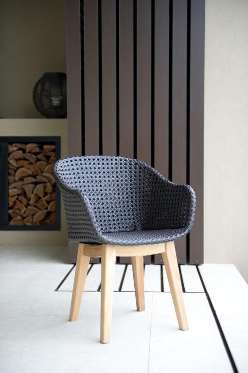 Eliss Dining Chair Restaurants Hospitality Wicker Teak Outdoor Furniture