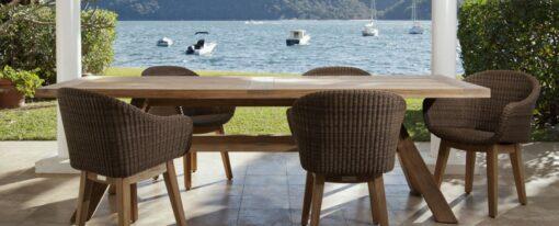 Eliss Dining Chair Restaurants Hospitality Wicker Teak Outdoor Patio Furniture 5