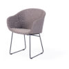 Modern Aluminum Rope Wicker Dining Chair