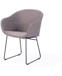 Modern Aluminum Rope Wicker Dining Chair