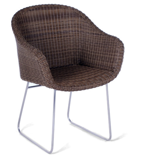 Ella Dining Chair Restaurants Hospitality Wicker Stainless Steel PC Outdoor Furniture