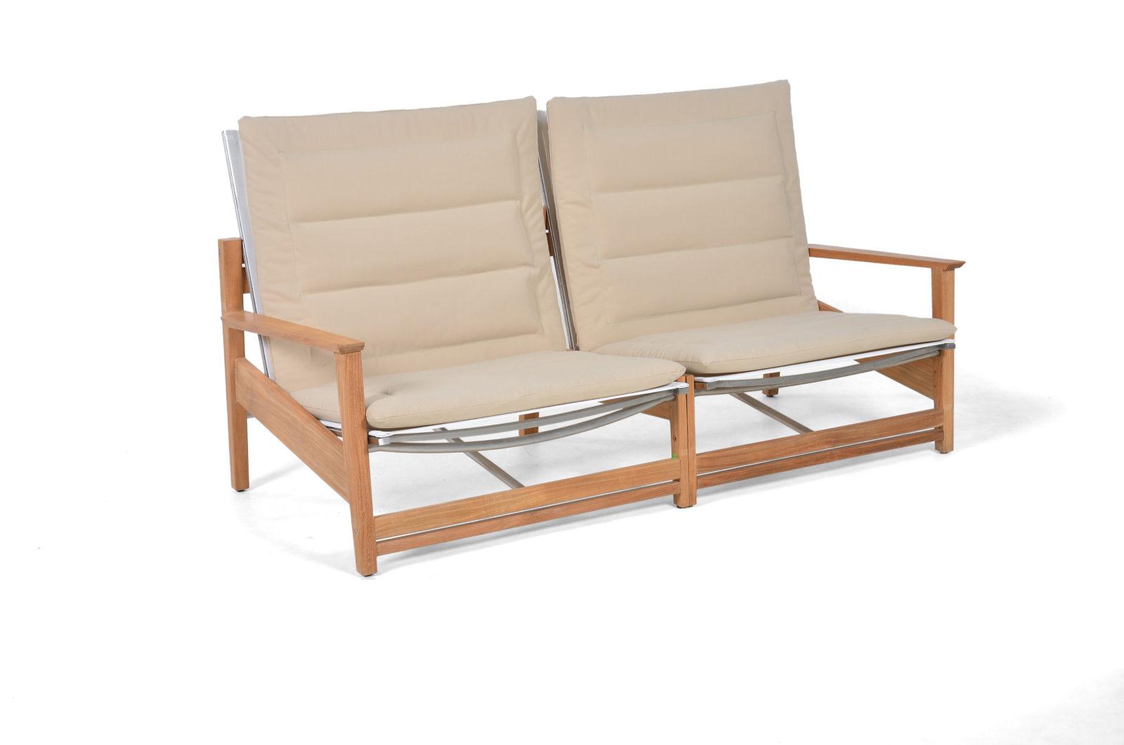 Eli 2 Seater Sofa Modern Teak Pool Terrace Lounge Furniture Hospitality