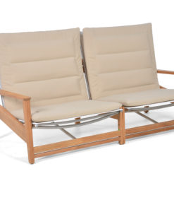 Eli 2 Seater Sofa Modern Teak Pool Terrace Lounge Furniture Hospitality