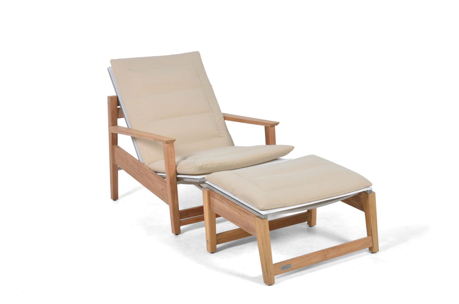 Eli Reclinable Club Chair Modern Pool Terrace Lounge Furniture Hospitality